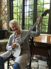 Peggy Seeger with the Banjo